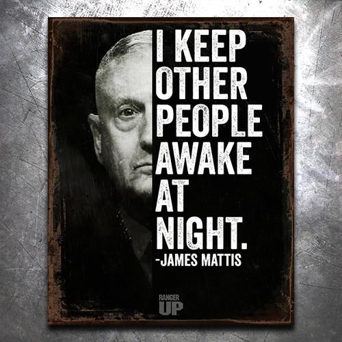 Mattis Awake Vintage Tin Sign