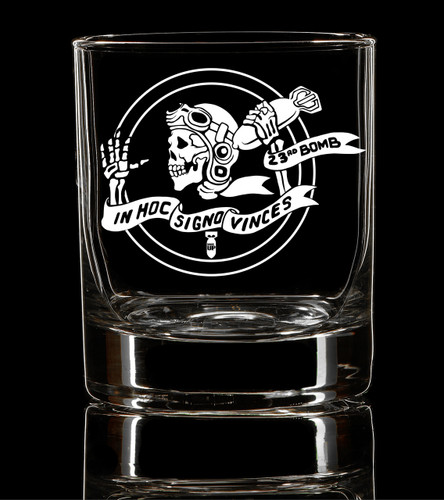 PREORDER 23rd Bomber Skelly Whiskey Glass