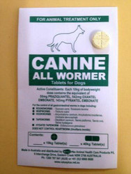 Canine All Wormer - Worming Tablet for Dogs - One Tablet treats 10kilo