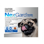 NexGard flea and Tick Treatment for dogs in a tasty chew small to medium dogs 4.1 - 10 kg 6 pack