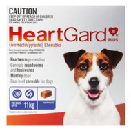 Heartgard Plus Blue Heartworm Chew for SMALL dogs 6 Chews