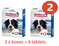 Milbemax worming tablet for Dogs Over 5kg 2 tablets per box/ Value Pack buy 2 boxes= 4 tablets| Love A Pet/ Love A Dog