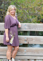 SMALL ONLY -Womens rusty brown  flowy deer dress
