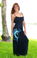 Black Long fishing sailfish dress
