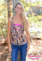 Flowy Sporty Girl Signature pink camo tank