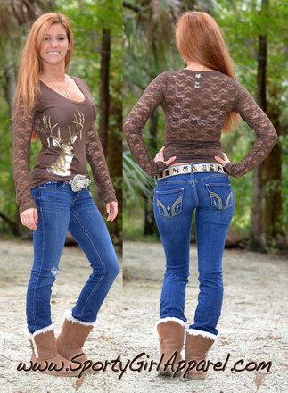 Sexy Lace Deer Hunting Top Perfect For Those Night Out On