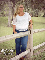 LACE western top