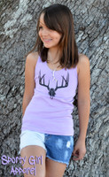 little kids one size deer skull tank tops