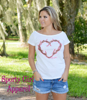 White heart antler shirt