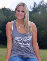 Gray Gator loose fitting tank top
