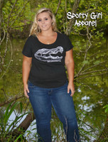 Alligator womens casual shirt