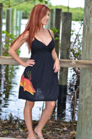 LARGE  or Xlarge spaghetti  Strap Black Hogfish dress