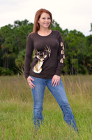 Brown Thermal Deer Head Shirt