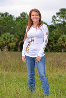 White Thermal Womens Deer Head Shirt
