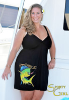 Plus Size  Fashionable fishing dolphin dress