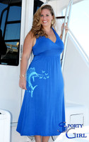 Plus Size womens long maxi sailfish fishing dress