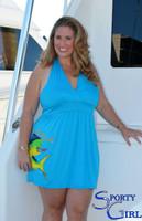 Plus Size Halter blue dolphin dress