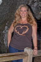 Brown heart antler tank top Plus Size 4X-6X