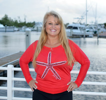 RED Off Shoulder long sleeve Starfish top