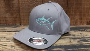 Seafoam TUNA gray flexfit L/XL fitted hat