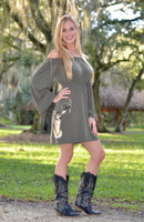 ONESIZE- Green long sleeve buck head dress
