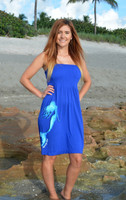 Royal Blue one size tube top mermaid dress