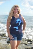Navy Plus size mermaid tank top