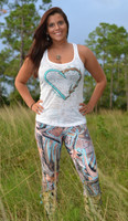 Mint Antler camo leggings  Full Length or Capri