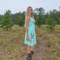 Pretty Mint Deer Head dress