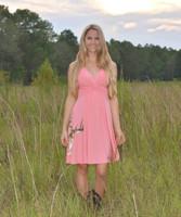 Pretty Coral Deer Head dress