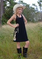 Kids youth onsize Black deer head dress