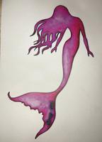 5 inch long Pink Mermaid
