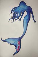7.5 inch long Blue Mermaid