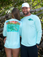 unisex Jupiter Lighthouse snook sunshirt