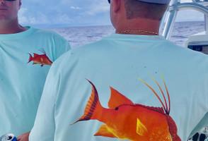 Mint hogfish mens sunshirt
