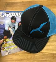 Frigate blue and black  adjustable mesh back hat