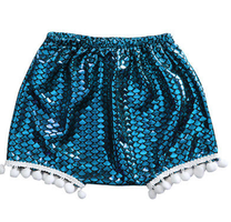 baby and toddler mermaid bloomer shorts