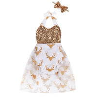 little country girl glitter deer dress