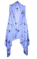 Periwinkle Blue starfish cardigan vest