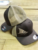 brown Red Fish Tail  flex fit