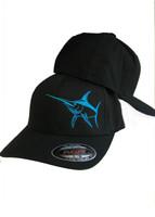 Copy of Mens Swordfish flex fit mesh gray and blue  hat