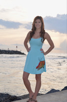Light blue hogfish spaghetti strap dres