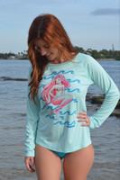 Copy of UPF50+ women's fitted hogfish sun shirt /dive shirt