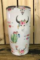 20  OZ SG ELITE  skull flower arrow and  cactus stainless steel  tumbler
