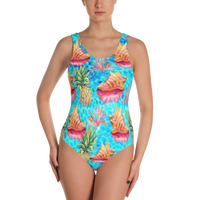 Taste of the tropics one piece swimsuit - made to order 10 day turnaround time