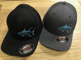 Mesh Back flexfit Yellowfin  tuna fishing hat -onesize