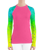 Pink Mahi Mahi UPF 40+ fishing diver rash guard