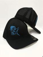 soild black flexfit MAHI MAHI hat