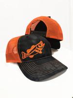 Kryptek camo with  Orange  bass mens snapback hat