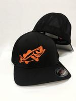 SOILD BLACK  Flex fit onesize with neon orange BASS